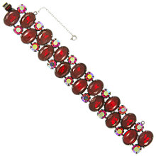 Buy Eclectica Vintage 1950s Festive Bracelet, Red Online at johnlewis.com