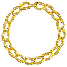 Buy Eclectica Vintage 1970s Christian Dior Gold Plated Collar Necklace, Gold Online at johnlewis.com