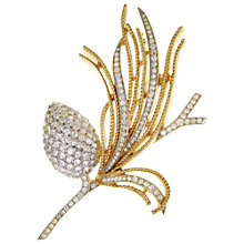 Buy Eclectica Vintage 1960s Trifari Swarovski Crystals Brooch, Gold Online at johnlewis.com