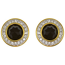 Buy Eclectica Vintage 1980s Swarovski Clip-On Earrings, Black/Silver Online at johnlewis.com