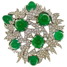 Buy Eclectica Vintage 1960s Boucher Swarovski Crystal Abstract Brooch, Green Online at johnlewis.com