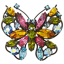 Buy Eclectica Vintage 1950s Regency Butterfly Brooch, Multi Online at johnlewis.com