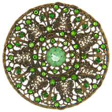 Buy Eclectica Vintage 1930s Bohemian Filagree Brooch, Green Online at johnlewis.com