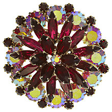 Buy Eclectica Vintage 1950s Navette Gold Plated Brooch, Pink Online at johnlewis.com