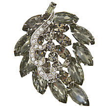 Buy Eclectica Vintage 1950s Wiess Navette Rhinestone Brooch, Grey/White Online at johnlewis.com