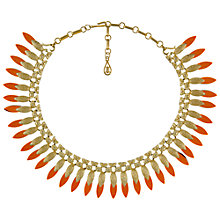 Buy Eclectica Vintage 1950s Coro Resin Gold Plated Necklace, Gold/Coral Online at johnlewis.com
