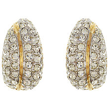 Buy Eclectica Vintage Swarovski Gold Plated Crystal Clip-On Earrings, Silver/Gold Online at johnlewis.com