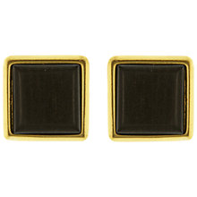 Buy Eclectica Vintage 1980s Yves Saint Laurent Square Earrings, Brown/Gold Online at johnlewis.com