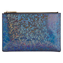 Buy Whistles Small Hologram Leather Clutch Bag, Multi Online at johnlewis.com