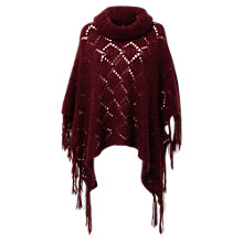 Buy East Fringe Mohair Poncho, Red Online at johnlewis.com