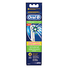 Buy Braun Oral-B CrossAction Toothbrush Refills, 85887, Pack of 4 Online at johnlewis.com