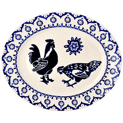 Emma Bridgewater Blue Hen & Border Oval Platter