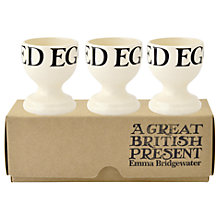 Buy Emma Bridgewater Black Toast Egg Cups, Set of 3 Online at johnlewis.com