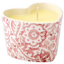 Buy Emma Bridgewater Pink Wallpaper Heart Candle Online at johnlewis.com