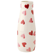 Buy Emma Bridgewater Hearts Small Milk Bottle Vase Online at johnlewis.com