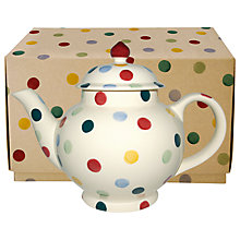 Buy Emma Bridgewater Polka Dot 4 Cup Teapot with Gift Box Online at johnlewis.com