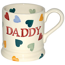 Buy Emma Bridgewater Polka Hearts Daddy Mug, 0.3L Online at johnlewis.com