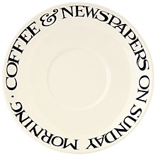 Buy Emma Bridgewater Black Toast Large Saucer Online at johnlewis.com