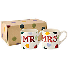 Buy Emma Bridgewater Mr & Mrs Espresso Cups, Set of 2 Online at johnlewis.com