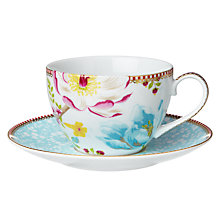 Buy PiP Studio Cappuccino Cup and Saucer, White Online at johnlewis.com