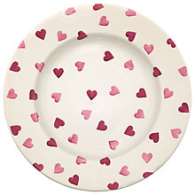 Buy Emma Bridgewater Pink Hearts Dinner Plate Online at johnlewis.com