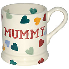 Buy Emma Bridgewater Polka Hearts Mummy Mug, 0.3L Online at johnlewis.com