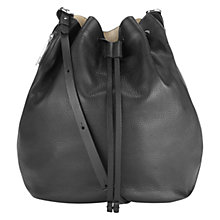 Buy Whistles Onslow Bucket Bag, Black Online at johnlewis.com