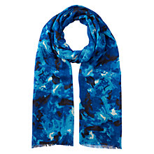 Buy Whistles Marble Smudge Print Scarf, Multi Blue Online at johnlewis.com