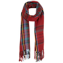 Buy Miss Selfridge Check Scarf, Red Online at johnlewis.com