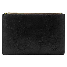 Buy Whistles Stingray Small Leather Clutch, Black Online at johnlewis.com