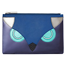 Buy Whistles The Owl Small Clutch, Blue Online at johnlewis.com