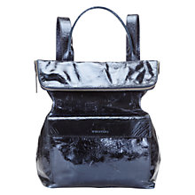 Buy Whistles Verity Large Leather Rucksack, Silver Online at johnlewis.com