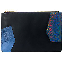 Buy Whistles Small Patchwork Clutch Bag, Multi Online at johnlewis.com
