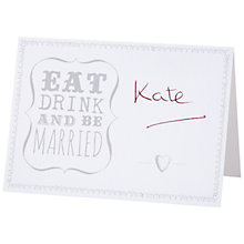 Buy Talking Tables Eat, Drink & Be Married Place Cards Online at johnlewis.com