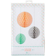 Buy Talking Tables Pastel Honeycomb Balls, Set of 3 Online at johnlewis.com