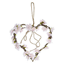Buy John Lewis Flower Heart Wreath, Pink Online at johnlewis.com