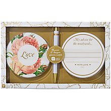 Buy Talking Tables Blossom & Brogues Floral Advice Cards Online at johnlewis.com