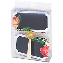 Buy Talking Tables Blossom & Brogues Floral Chalkboard Signs Online at johnlewis.com