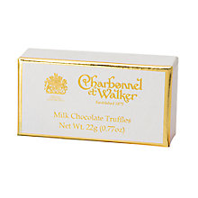 Buy Charbonnel et Walker Milk Chocolate Truffles, 22g Online at johnlewis.com