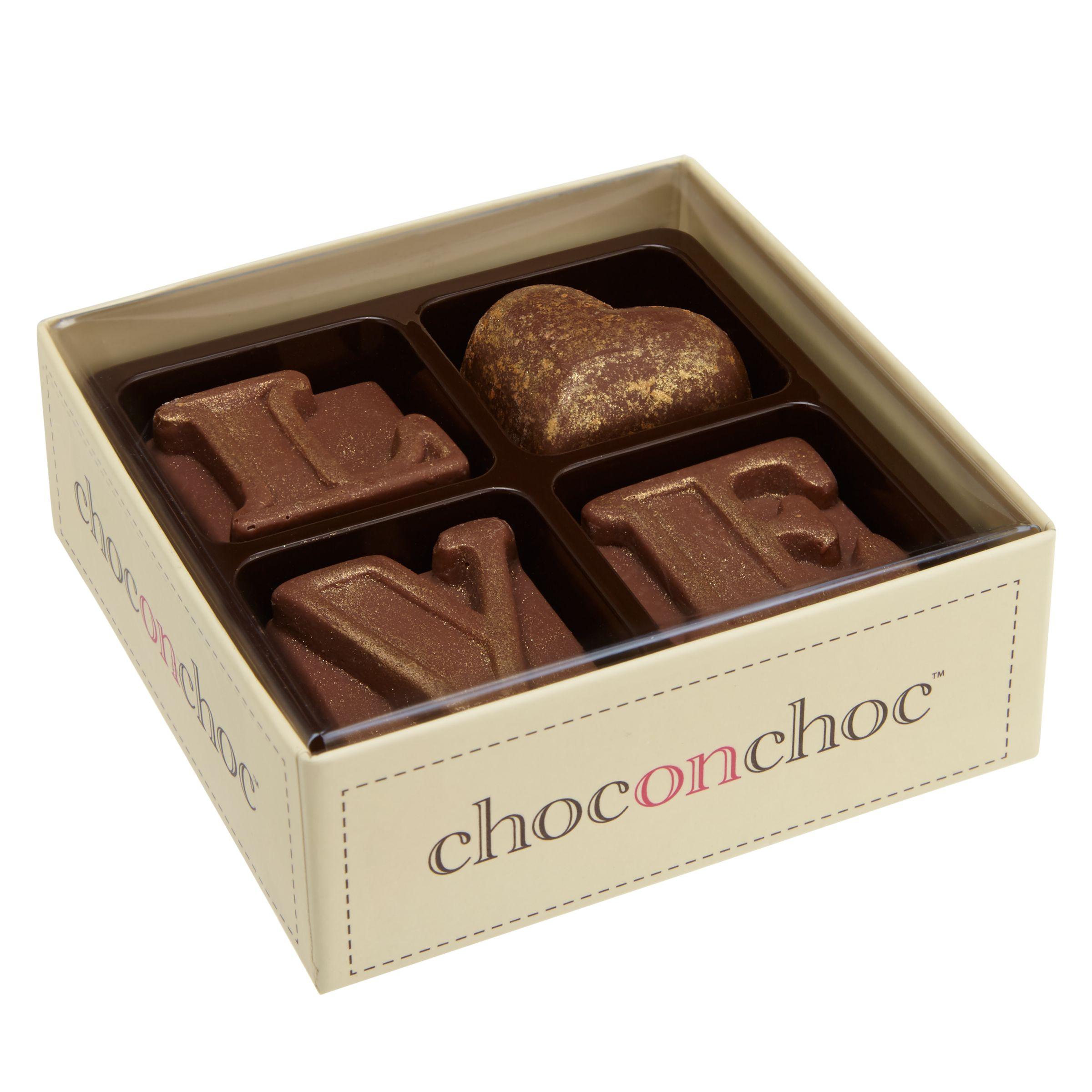 Choc on Choc Choc on Choc Gold Heart Love Chocolates, 50g