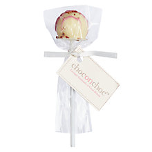 Buy Choc on Choc Strawberry Champagne White Chocolate Lolly, 13g Online at johnlewis.com