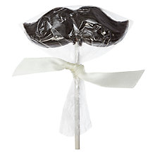 Buy Cocoa Loco Dark Chocolate Moustache Lolly, 20g Online at johnlewis.com