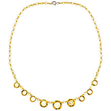 Buy Alice Joseph Vintage 1930s Crystal Bead Necklace, Lemon Online at johnlewis.com
