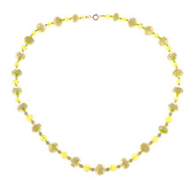 Buy Alice Joseph Vintage 1930s Glass Bead Necklace, Green/Yellow Online at johnlewis.com