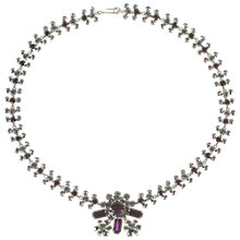 Buy Alice Joseph Vintage Amethyst Diamante Necklace, Purple Online at johnlewis.com