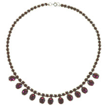 Buy Alice Joseph Vintage 1950s Amethyst Diamante Necklace, Purple Online at johnlewis.com