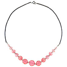 Buy Alice Joseph Vintage Crystal Bead Necklace, Pink Online at johnlewis.com