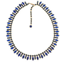 Buy Alice Joseph Vintage 1950s Diamante Necklace, Blue Online at johnlewis.com