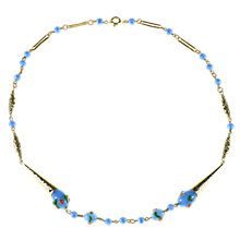 Buy Alice Joseph Vintage 1930s Lampworked Venetian Glass Bead Necklace, Blue Online at johnlewis.com
