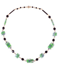 Buy Alice Joseph Vintage Art Glass Bead Necklace, Green Online at johnlewis.com